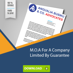 MOA company limited by guarantee