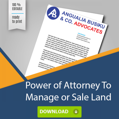 POWER OF ATTORNEY TO MANAGE OR SALE LAND