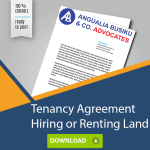 TENANCY AGREEMENT - FOR RENTING OR HIRING LAND